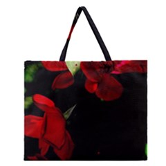 Roses 4 Zipper Large Tote Bag