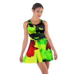 Red Roses and Bright Green 2 Racerback Dresses