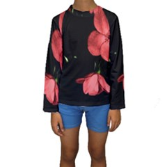 Mauve Roses 1 Kid s Long Sleeve Swimwear