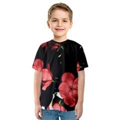 Mauve Roses 3 Kid s Sport Mesh Tee