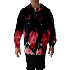 Mauve Roses 3 Hooded Wind Breaker (kids)