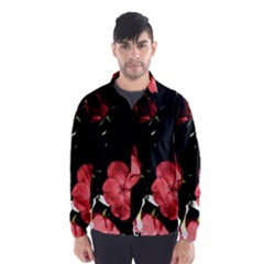 Mauve Roses 3 Wind Breaker (Men)