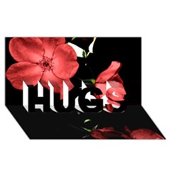 Mauve Roses 4 Hugs 3d Greeting Card (8x4)