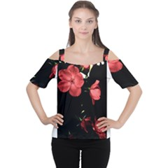 Mauve Roses 4 Women s Cutout Shoulder Tee