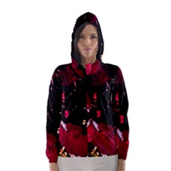 Pink Roses Hooded Wind Breaker (Women)