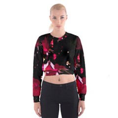 Pink Roses Women s Cropped Sweatshirt