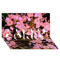 Little Mauve Flowers Sorry 3d Greeting Card (8x4)