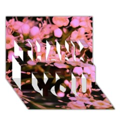 Little Mauve Flowers Thank You 3d Greeting Card (7x5)
