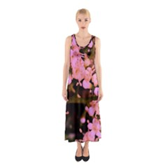 Little Mauve Flowers Full Print Maxi Dress