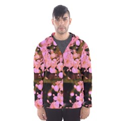 Little Mauve Flowers Hooded Wind Breaker (men)