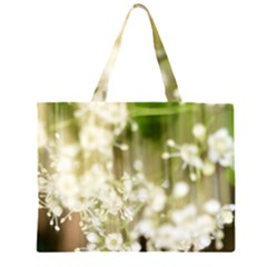 Little White Flowers Large Tote Bag