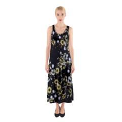 Little White Flowers 2 Full Print Maxi Dress