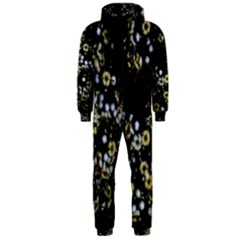 Little White Flowers 2 Hooded Jumpsuit (men)