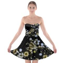 Little White Flowers 2 Strapless Dresses