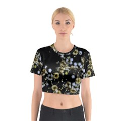 Little White Flowers 2 Cotton Crop Top