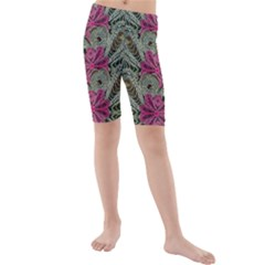 The Last Peacock In Metal Kid s Mid Length Swim Shorts
