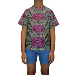 The Last Peacock In Metal Kid s Short Sleeve Swimwear