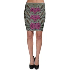 The Last Peacock In Metal Bodycon Skirts