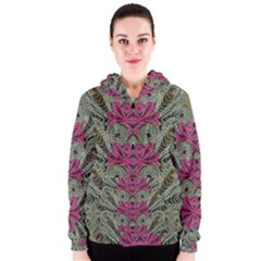 The Last Peacock In Metal Women s Zipper Hoodie