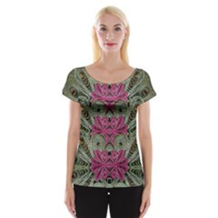 The Last Peacock In Metal Women s Cap Sleeve Top