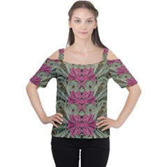 The Last Peacock In Metal Women s Cutout Shoulder Tee