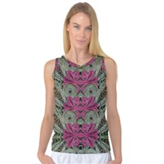 The Last Peacock In Metal Women s Basketball Tank Top