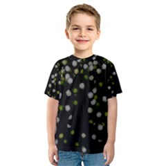 Little white and Green Dots Kid s Sport Mesh Tee