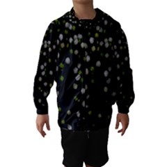 Little white and Green Dots Hooded Wind Breaker (Kids)