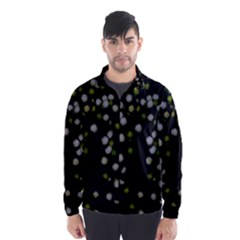 Little White And Green Dots Wind Breaker (men)
