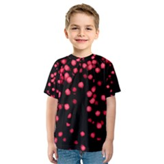 Little Pink Dots Kid s Sport Mesh Tee