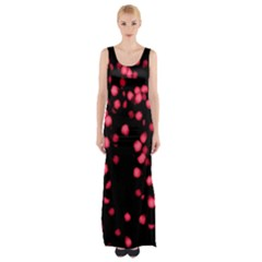 Little Pink Dots Maxi Thigh Split Dress