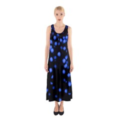 Little Blue Dots Full Print Maxi Dress