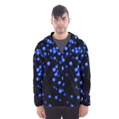 Little Blue Dots Hooded Wind Breaker (men)