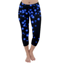 Little Blue Dots Capri Winter Leggings