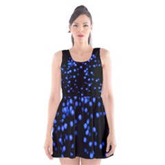 Little Blue Dots Scoop Neck Skater Dress