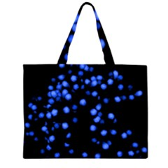 Little Blue Dots Large Tote Bag