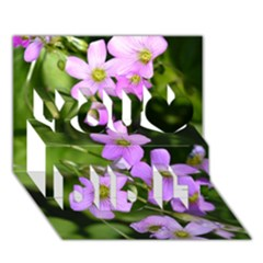 Little Purple Flowers You Did It 3d Greeting Card (7x5)