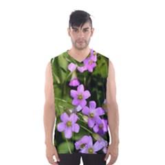 Little Purple Flowers Men s Basketball Tank Top