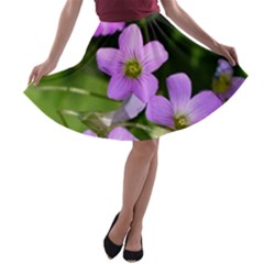 Little Purple Flowers A-line Skater Skirt