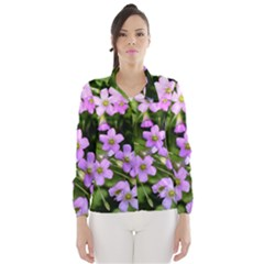 Little Purple Flowers Wind Breaker (women)