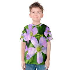 Little Purple Flowers 2 Kid s Cotton Tee
