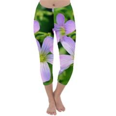 Little Purple Flowers 2 Capri Winter Leggings