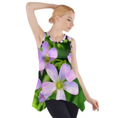 Little Purple Flowers 2 Side Drop Tank Tunic