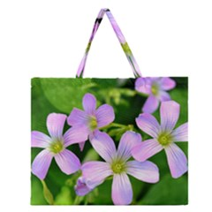 Little Purple Flowers 2 Zipper Large Tote Bag