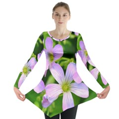 Little Purple Flowers 2 Long Sleeve Tunic