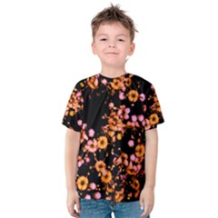 Little Peach and Pink Flowers Kid s Cotton Tee