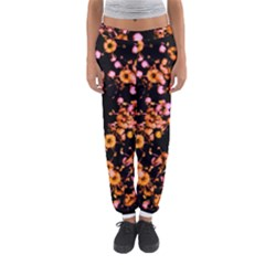 Little Peach and Pink Flowers Women s Jogger Sweatpants