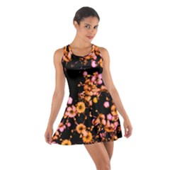 Little Peach and Pink Flowers Racerback Dresses