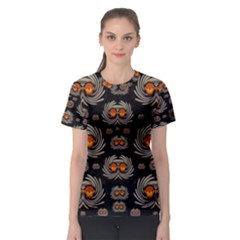 Seeds Decorative With Flowers Elegante Women s Sport Mesh Tee
