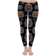 Seeds Decorative With Flowers Elegante Winter Leggings